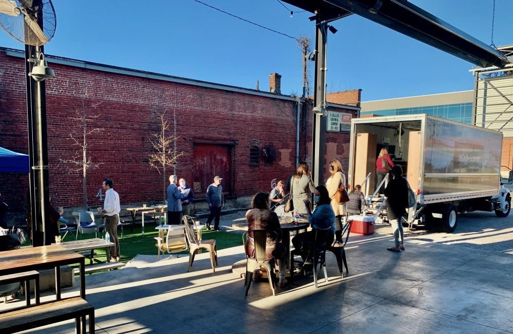 February 2021's SitOnIt Seating Road Show at Good People Brewing